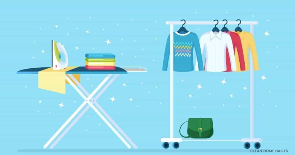 ironing board hanging clothes illustration for best ironing board cover